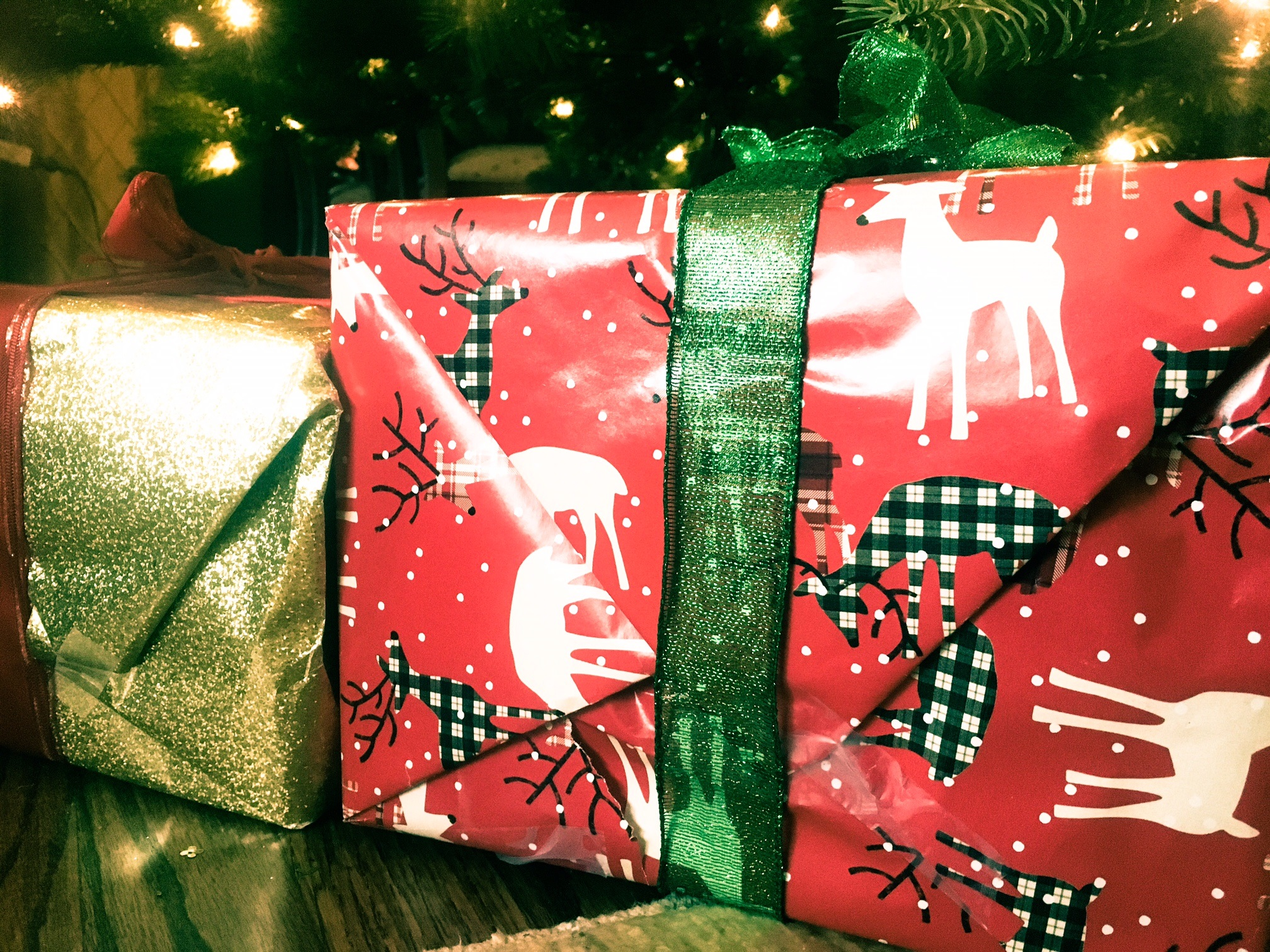 holiday presents wrapped