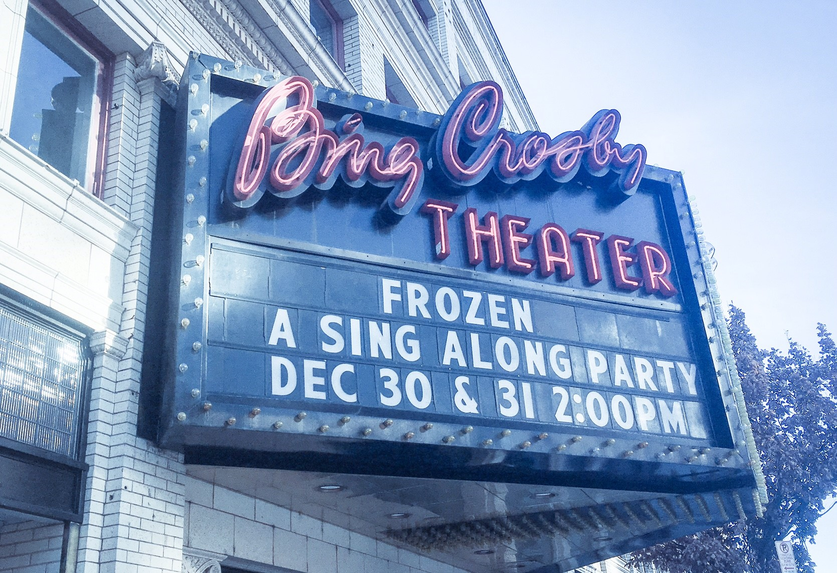 Bing Crosby Theatre in Winter