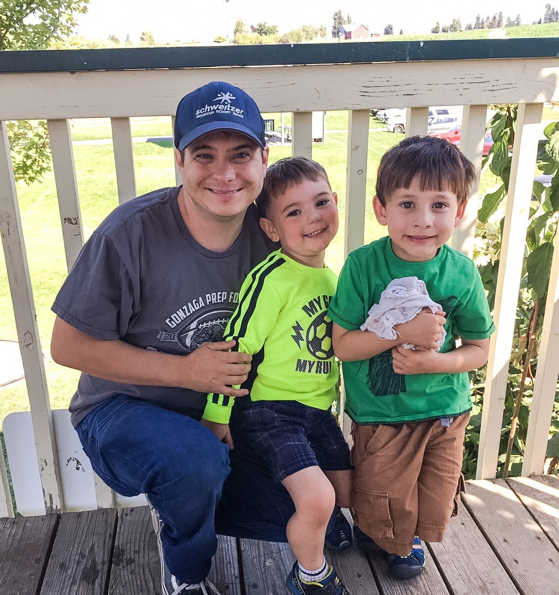 Jeff with nephews at Green Bluff